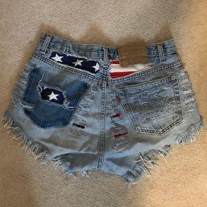 Vintage Levi American Flag Shorts